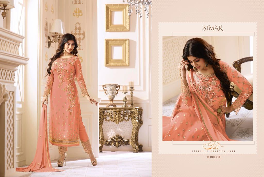 Pure Georgette Heavy Work Suits