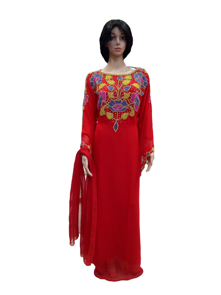 MODERN HAND EMBROIDERY KAFTAN GOWN