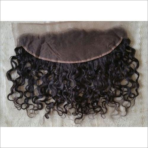 Raw Temple curly lace frontal