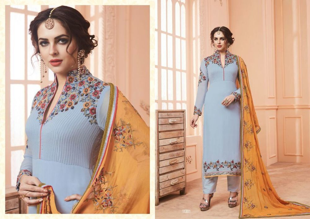 Latest Georgette Anarkali Salwar Suits