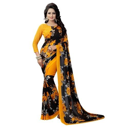 New Trendy Georgette Designer Saree