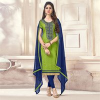 Formal Wear Cotton Jacquard Salwar Suit