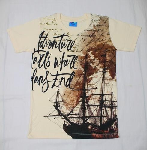 Printed Ribneck T Shirt