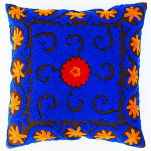 Uzbek Hand Embroidered Suzani Cushion Cover and Pillow Cases