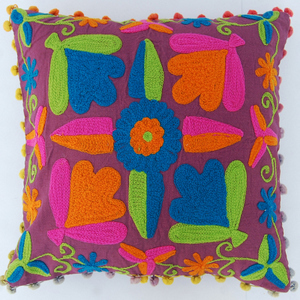 Indian-Uzbek-Suzani-Cushion-Cover-Square-Embroidered-Pillow-Case-Decorative-Case