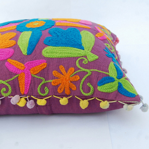Indian-Uzbek-Suzani-Cushion-Cover-Square-Embroidered-Pillow-Case-Decorative-Case