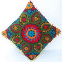Suzani-Embroidered-Pillows-Indian-Pom-Pom-Cushion-Cover-16X16-Decorative