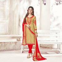 Fancy Cotton Jacquard Embroidered Salwar Suit