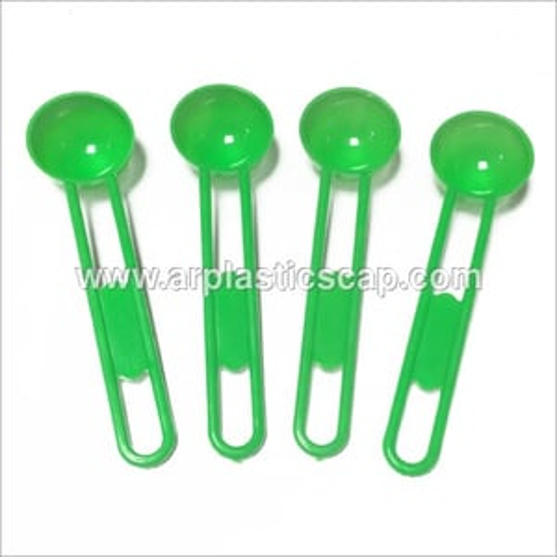 Green Plastic Spoon