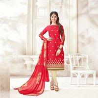Festive  Wear Cotton Jacquard Salwar Kameez