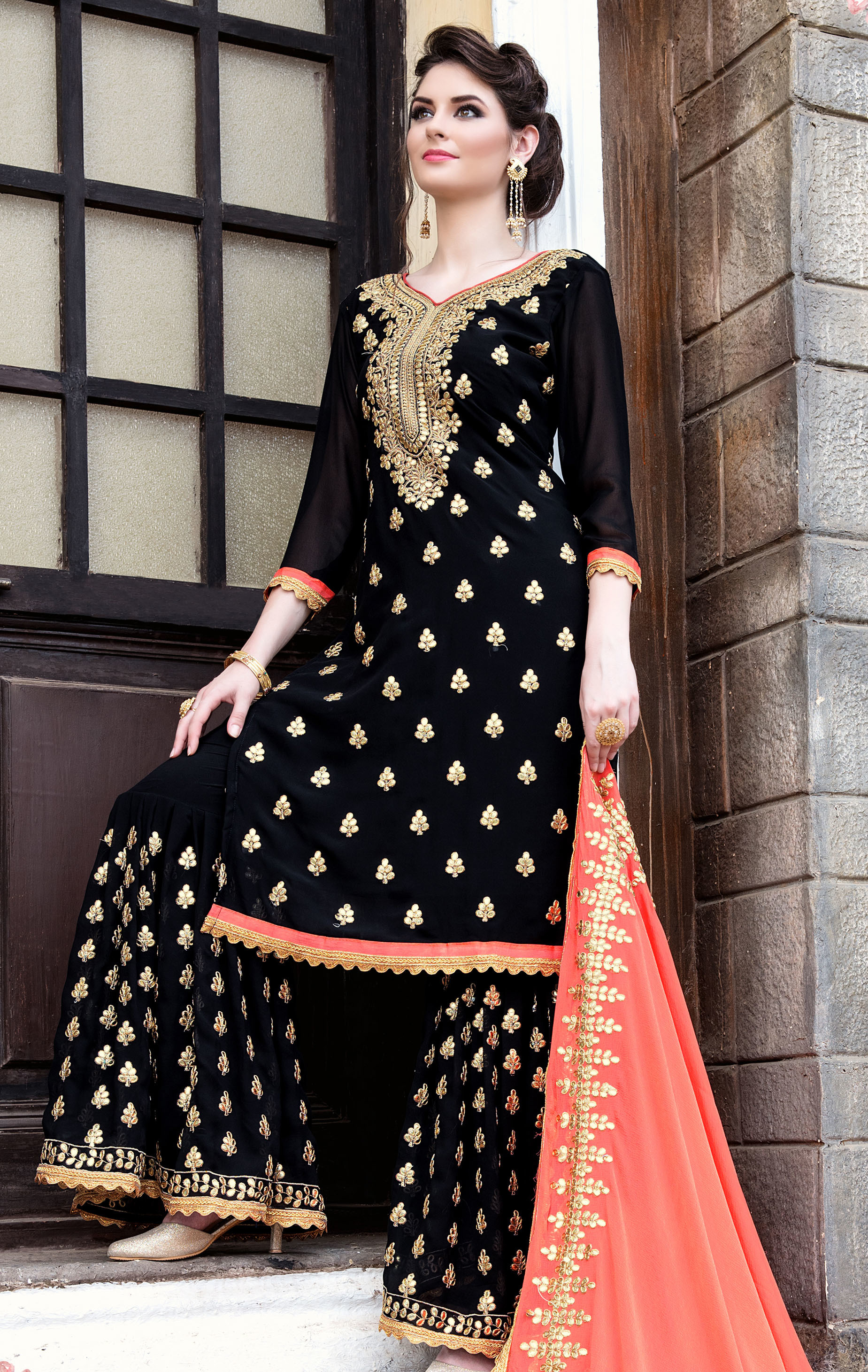 Georgette Plazzo  Salwar Suit