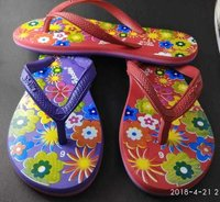 Ladies  flower printed Hawai slipper