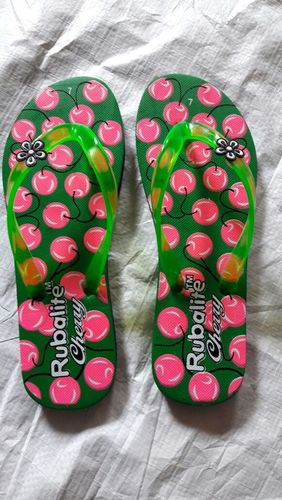 Ladies Cherry Printed Slipper