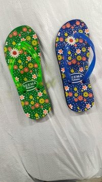 Ladies floral printed slipper