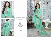 Unstitched Cotton Print Salwar Kameez