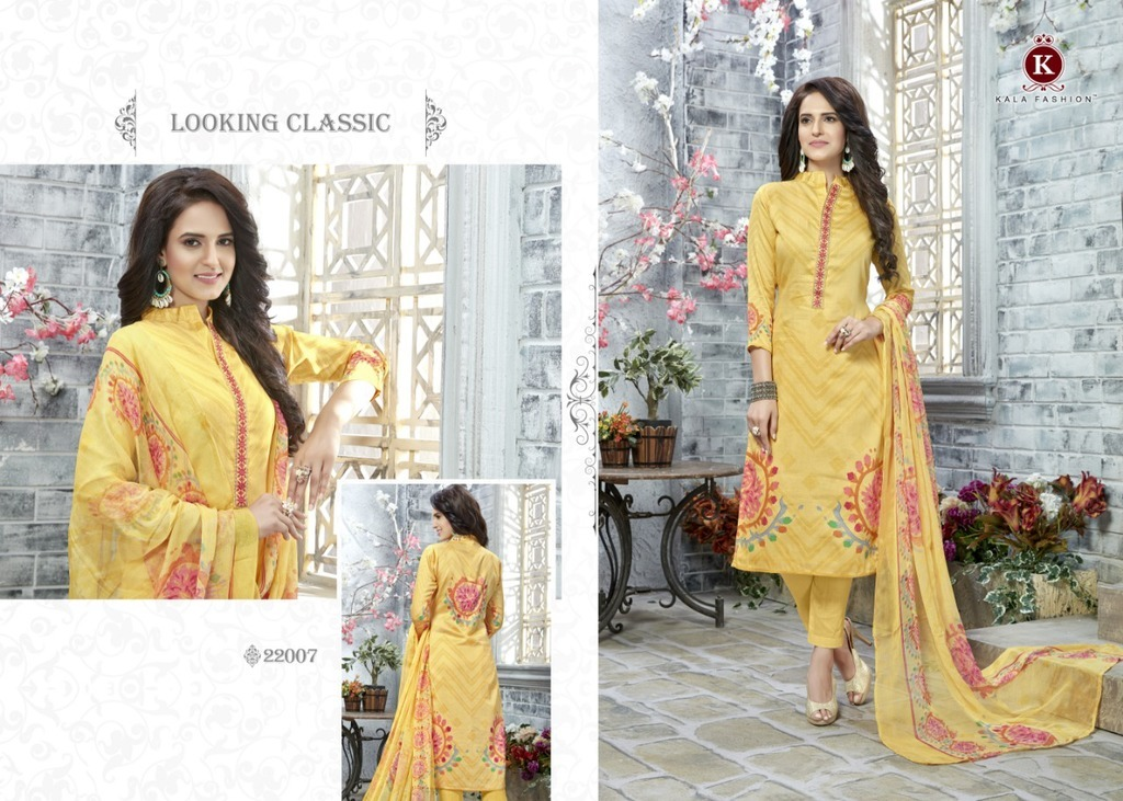 Unstitched Cotton Print Salwar Kameez