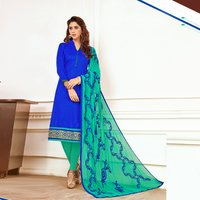 Plain Cotton Unstitched Salwar Suit