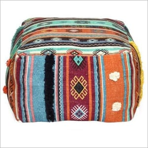 Embroidery Poufs