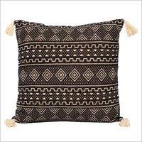 Brown Printed Cushion Cover