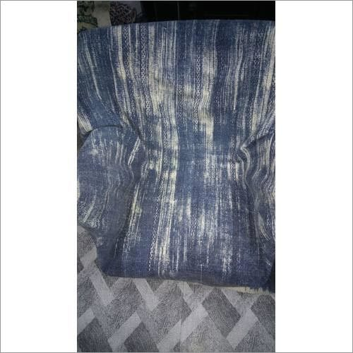 Dark Blue Cotton Printed Upholstery Fabric