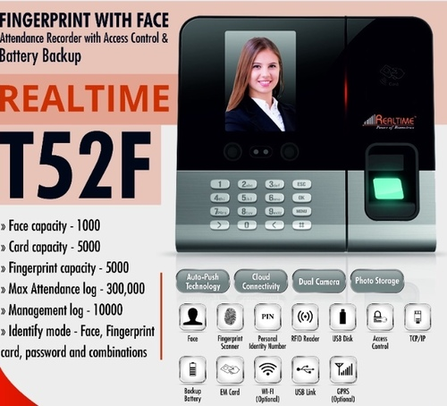 Fingerprint With Face Attendance System