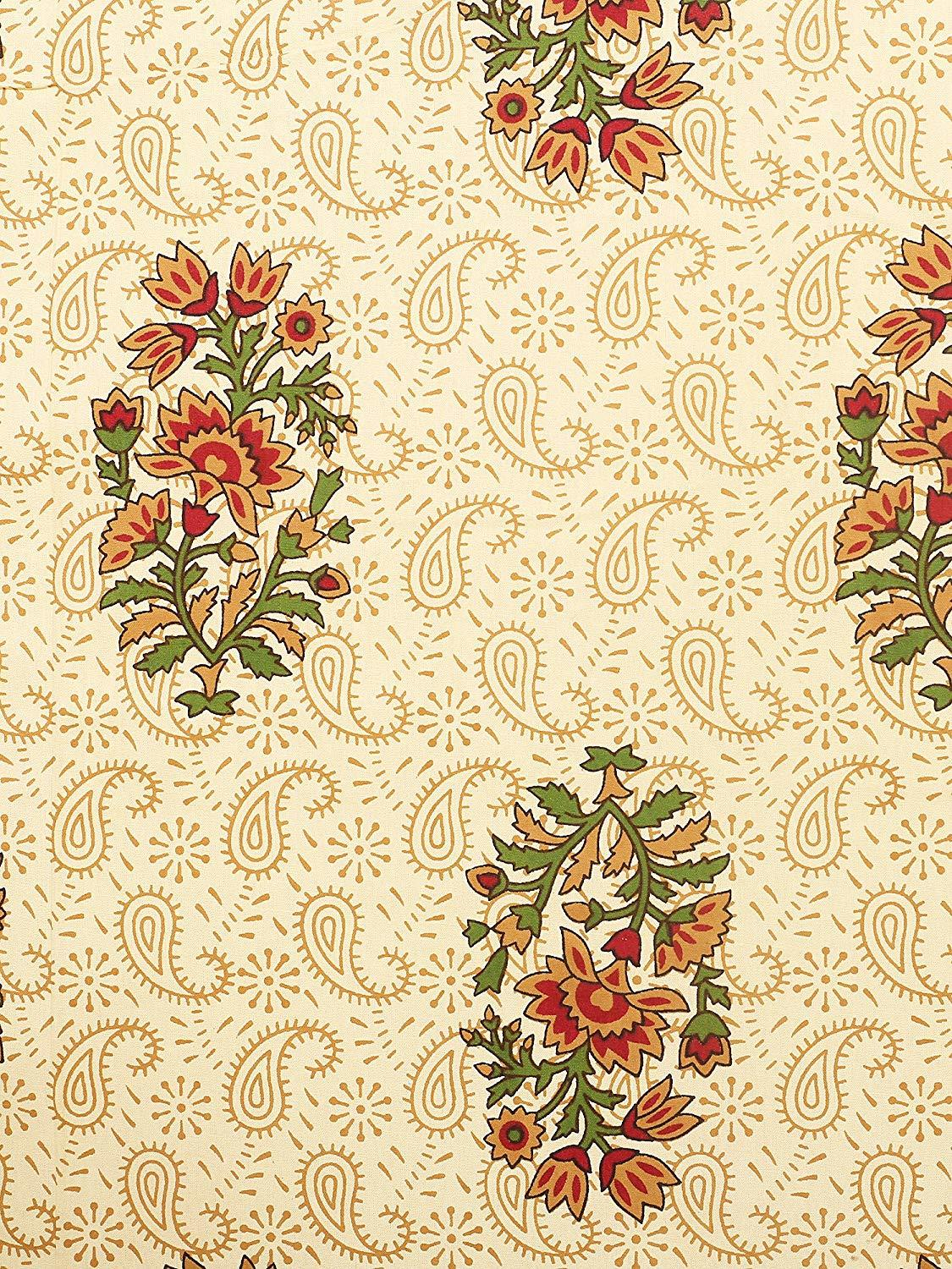 Cotton Flower Printed Double Bed Sheet 250 TC