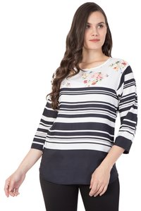 American Crepe Striped Top