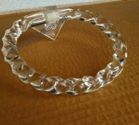 Acrylic Towel Ring Twisted