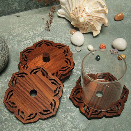 Wooden Glass Coaster