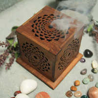 Wooden Incense Cube Burner