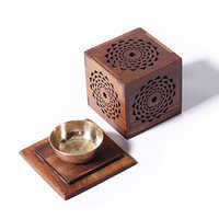 Wooden Incense Cone Burner