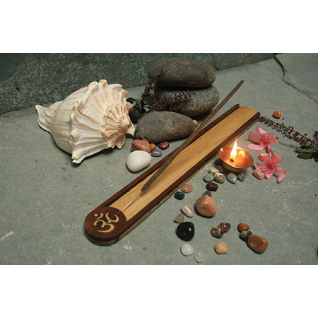 Om Wooden Incense stand