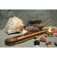Om Wooden Incense Holder