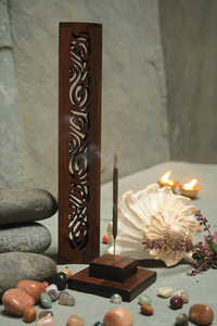 Cut Work Wooden Incense stand