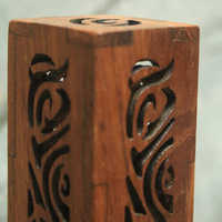 Cut Work Wooden Incense Holder