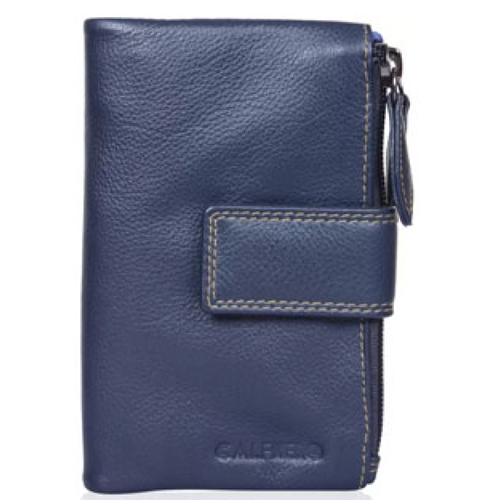 Calfnero Women Leather Zip  Wallet