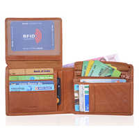 Tan Mens Leather Wallet