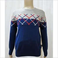 Boy Kid Chest Jacquard Sweater