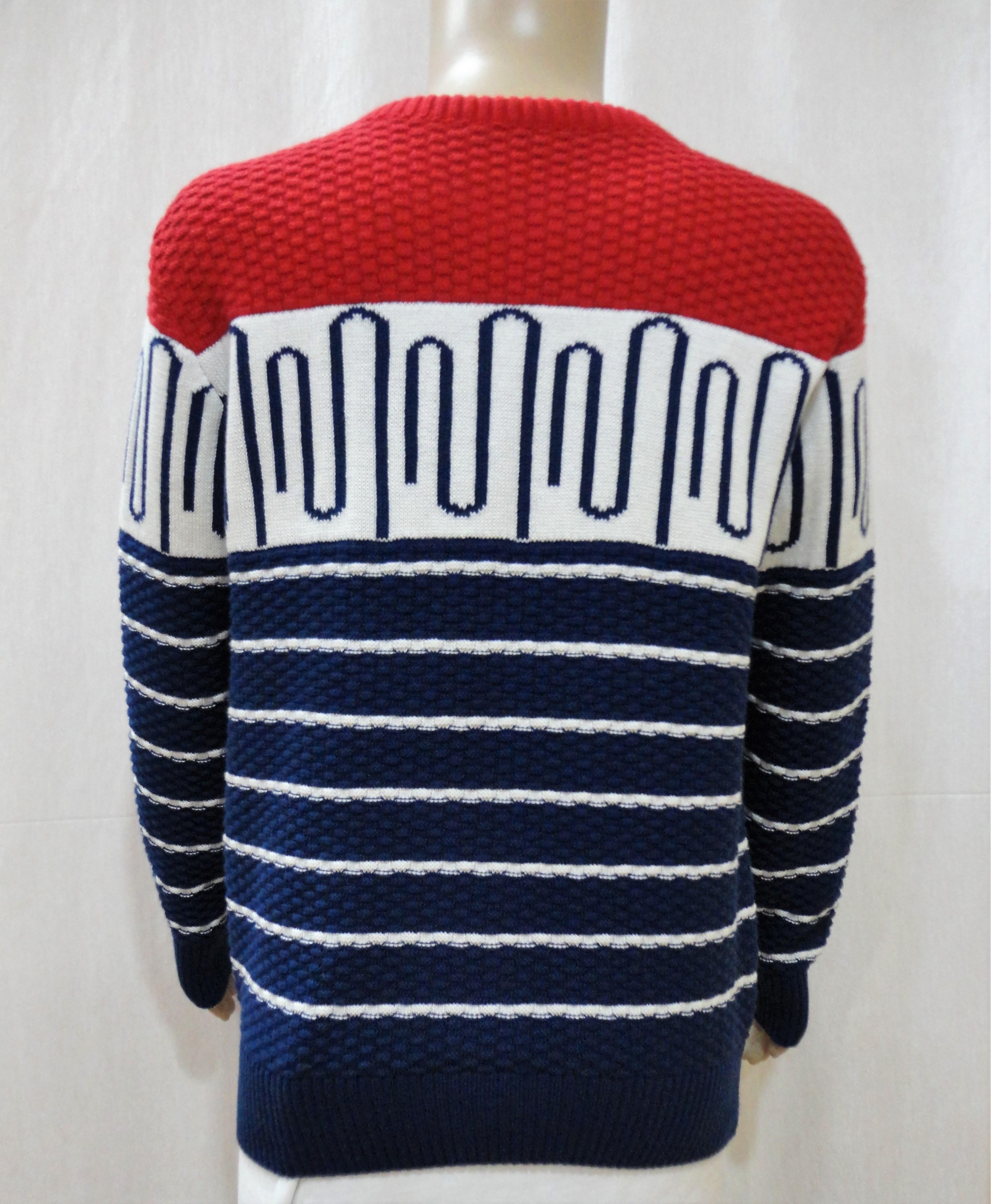 Boy Kid Allover Jacquard Sweater