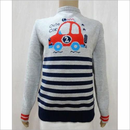 Baby Boy Fancy Intarsia Sweater