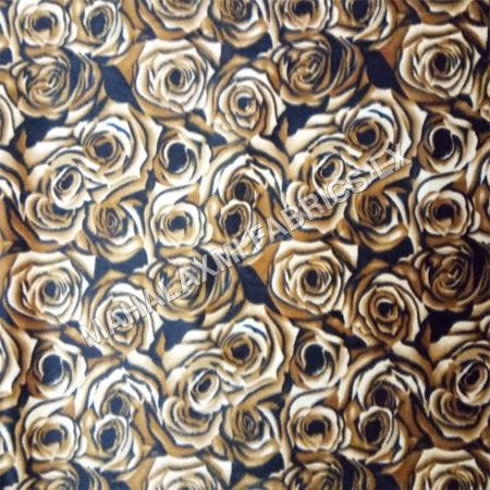 Rose Print Velvet Fabric
