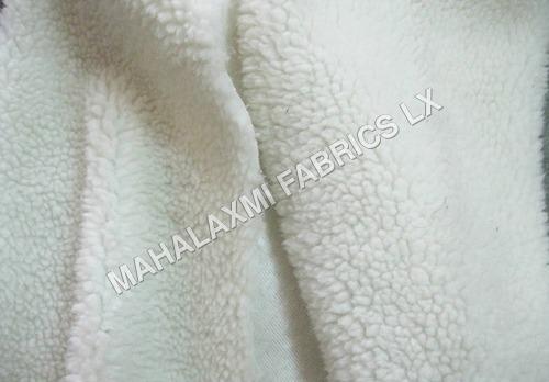 White Sheep Fur Fabric
