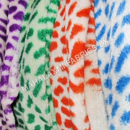 Dotted Crystal Fur Fabric
