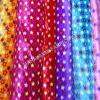 Star Print Velvet Fabric