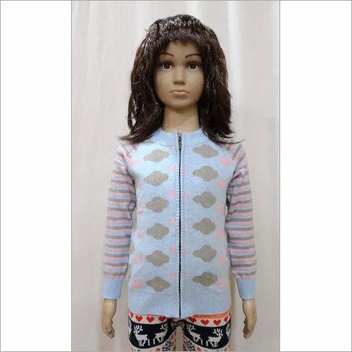 Girl Kid Zipper Sweater