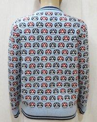 Boy Kid Zipper Jacquard Sweater