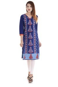 Ladies Desiner Printed Cotton Kurti