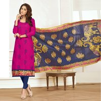 Bangalori Silk Dupatta With Unstitched Salwar Suit