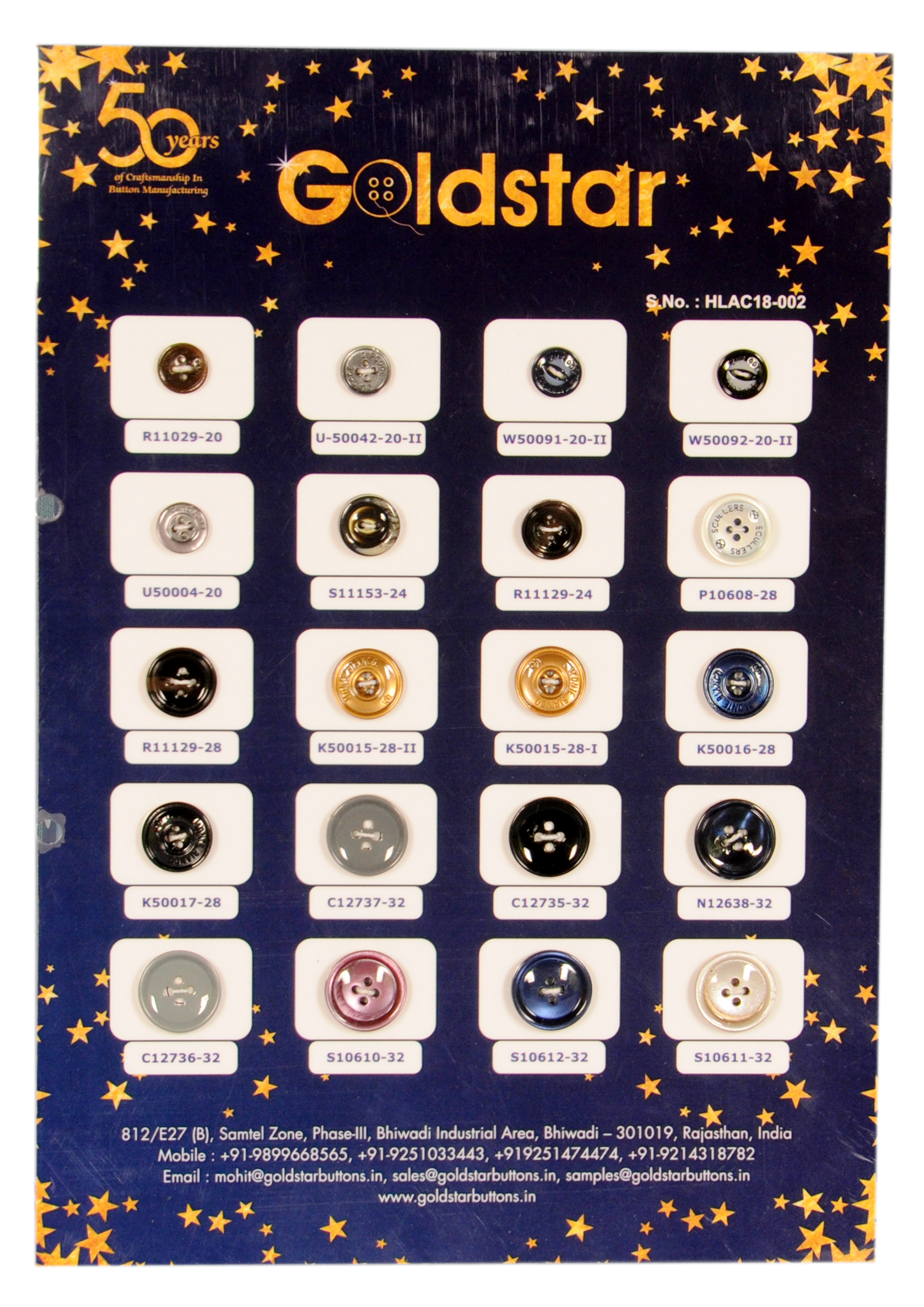 Polyester Buttons ( Lacquer)