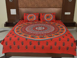 Hand Block Print Bed Sheet